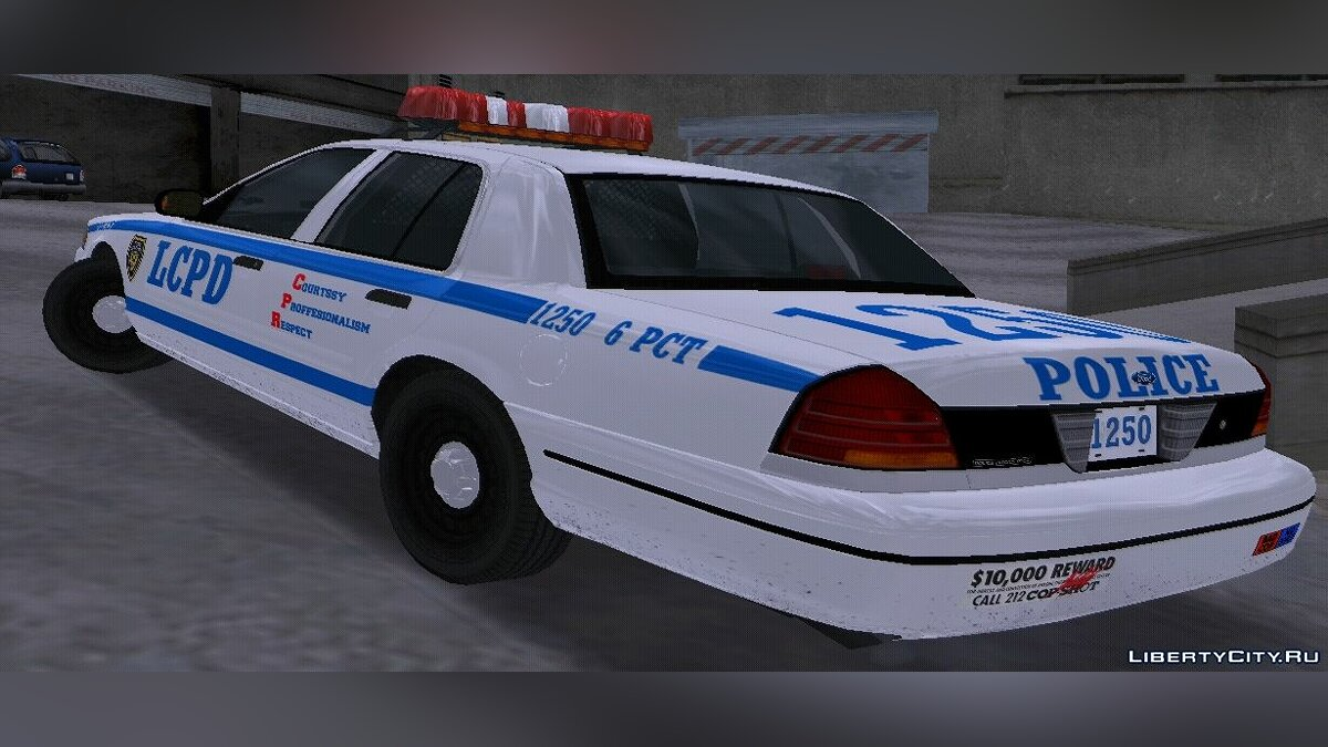 1 998 Ford Crown Victoria Police Interceptor для GTA 3 - скріншот #2