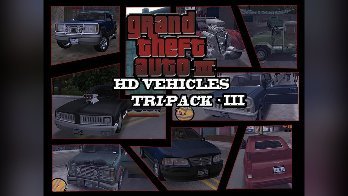 GTA3 HD Vehicles Tri-Pack III для GTA 3