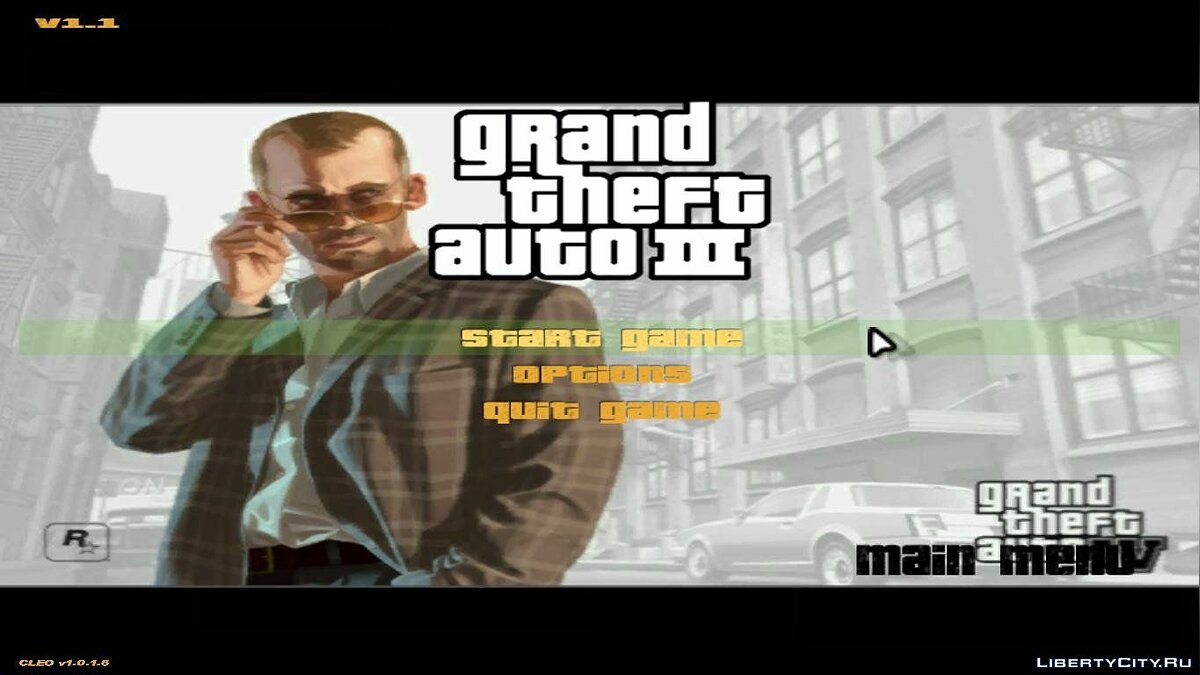 GTA IV Menu and Splash to GTA 3 для GTA 3