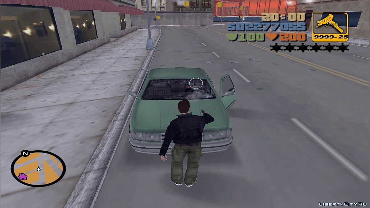 ��криптова мод Breakable Windshields для GTA 3