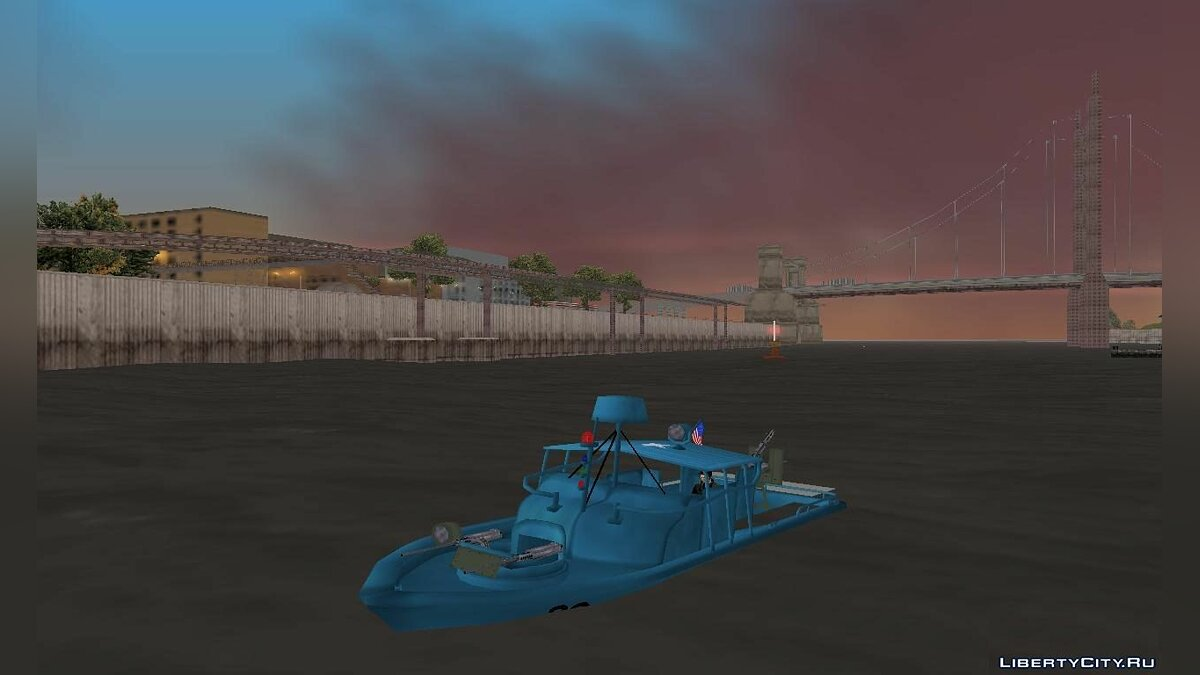 Човен і катер Patrol Boat River Mark 2 для GTA 3