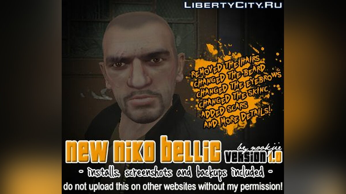 New Niko Bellic Skin v1.0 для GTA 4 - Картинка #1