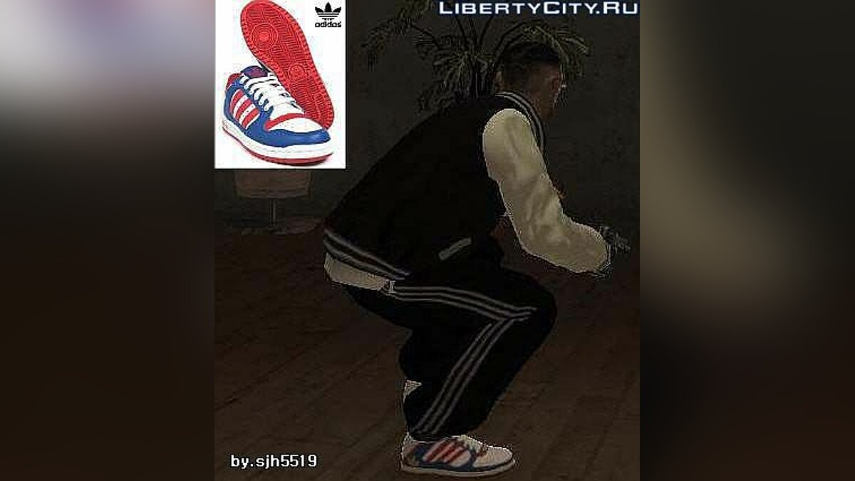 Adidas Blue Shoes v1.0 для GTA 4 - Картинка #1