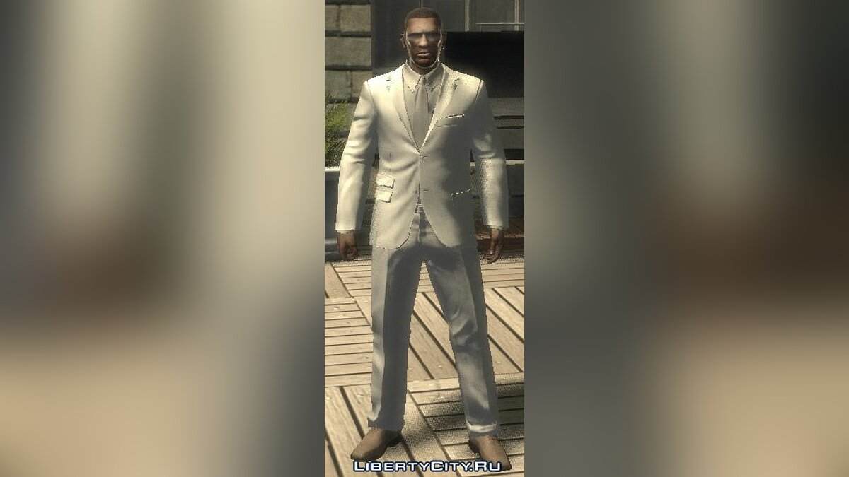 White and grey Suit для GTA 4 - Картинка #1