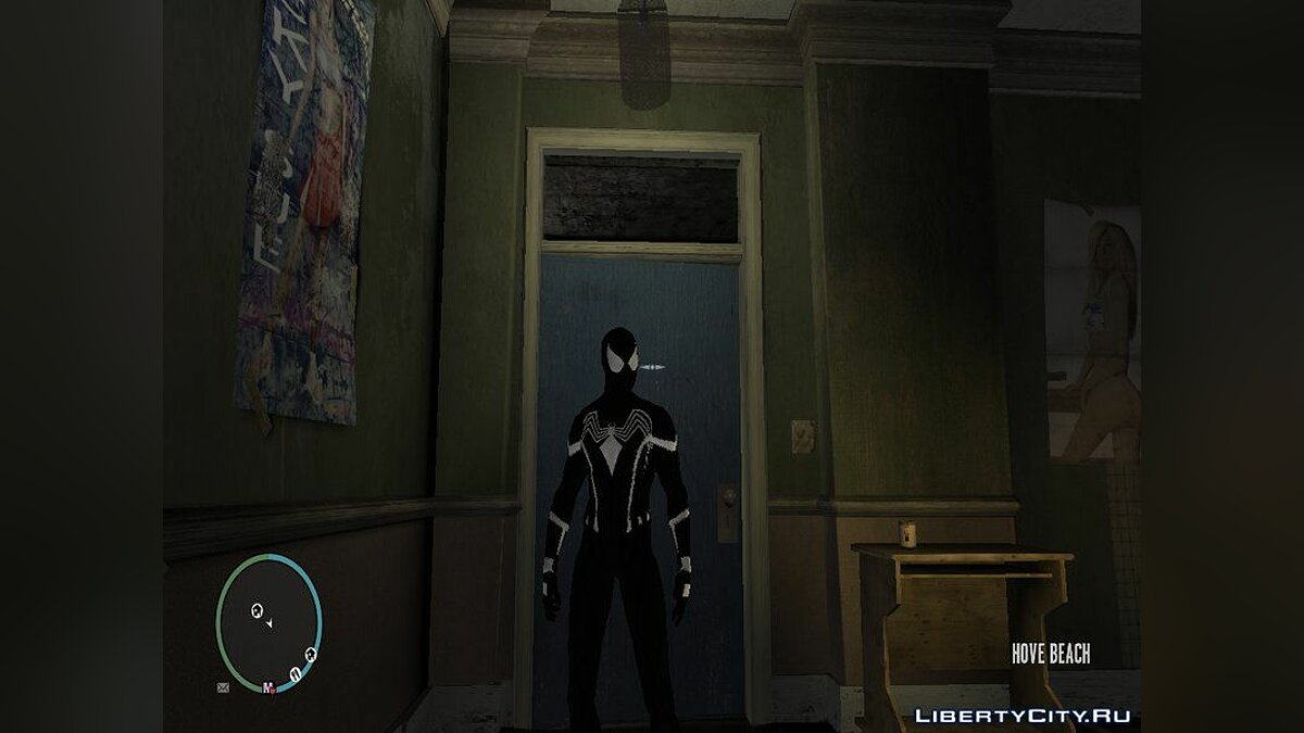 ��овий персонаж Spider-Man Civil War Black v.1 для GTA 4
