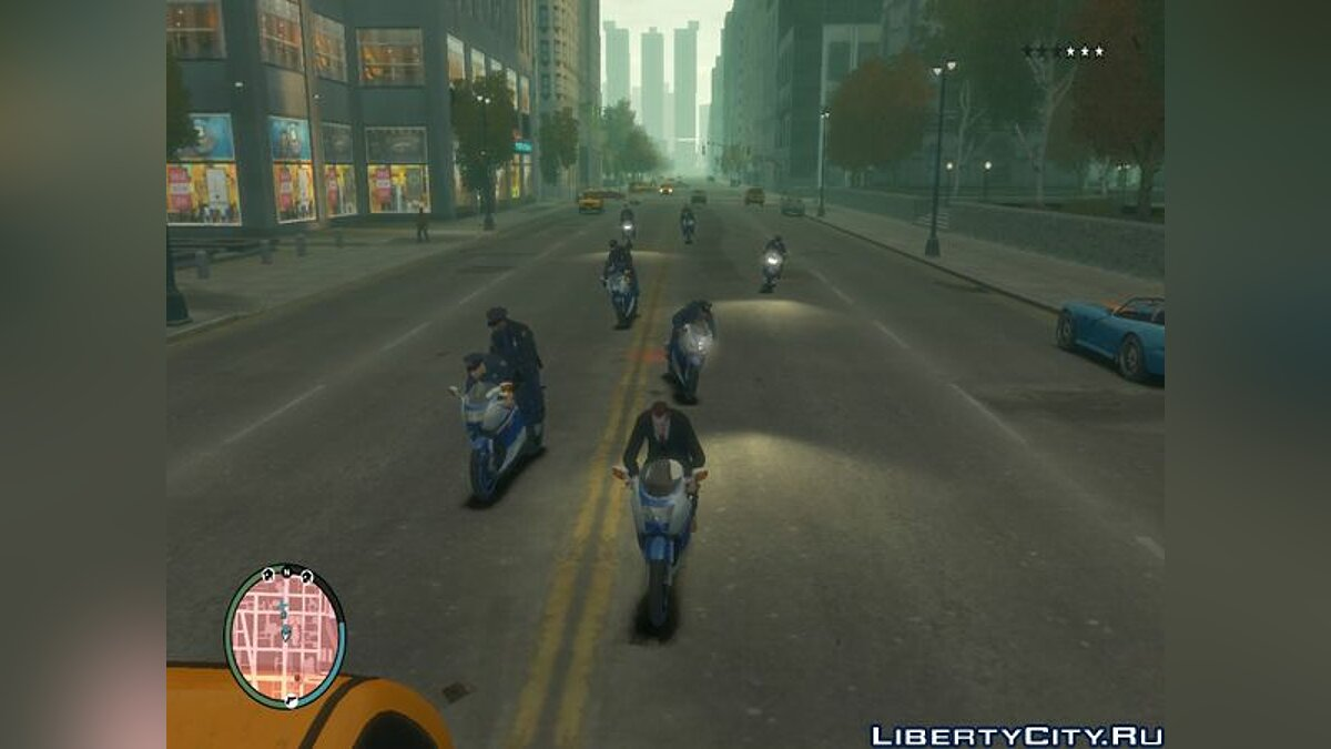 GTA IV Cop Cars Changed To Bike v1.0 для GTA 4