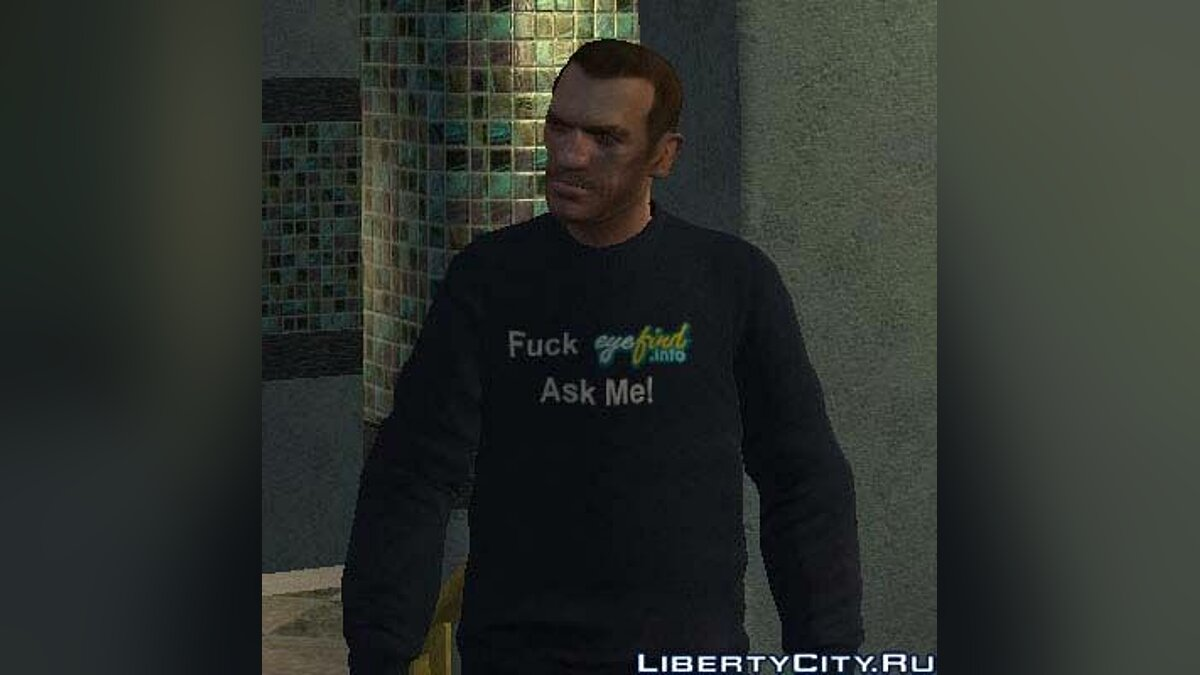 Fuck Eyefind.info Ask Me! Sweater для GTA 4 - Картинка #1