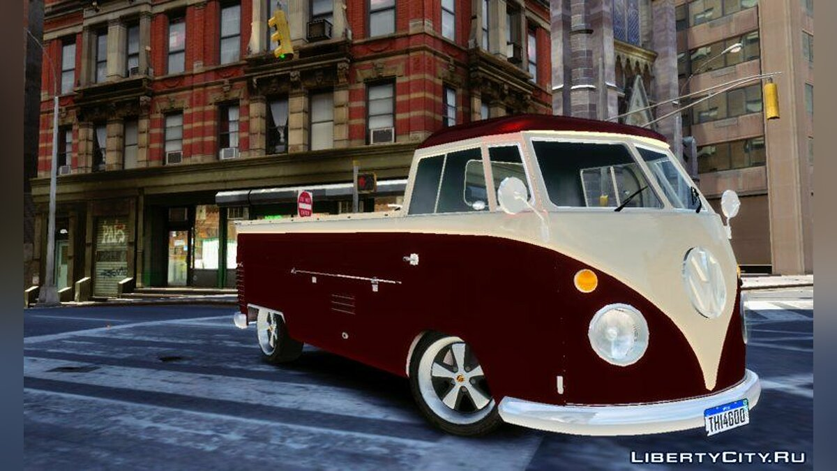 Машина Volkswagen VW Kombi Pick-Up T2 Bus для GTA 4