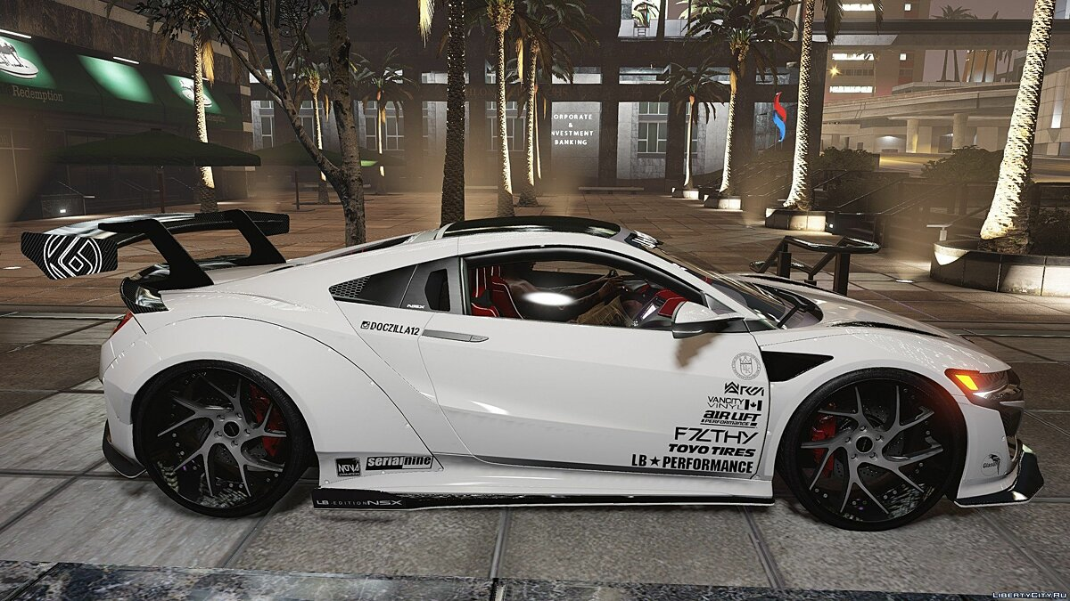 Машина Acura F7LTHY Liberty Walk NSX [Mod-Kit | Add-on] 2.0 для GTA 5