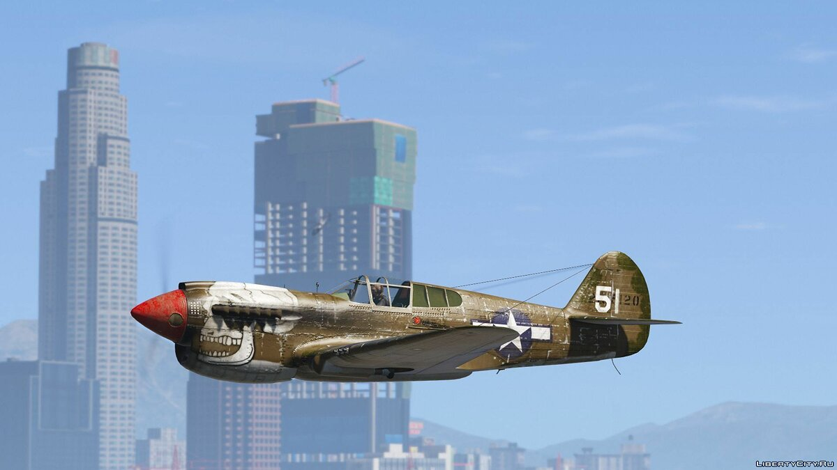 Машина Dodge P-40E Warhawk [Add-On] 1.0 для GTA 5