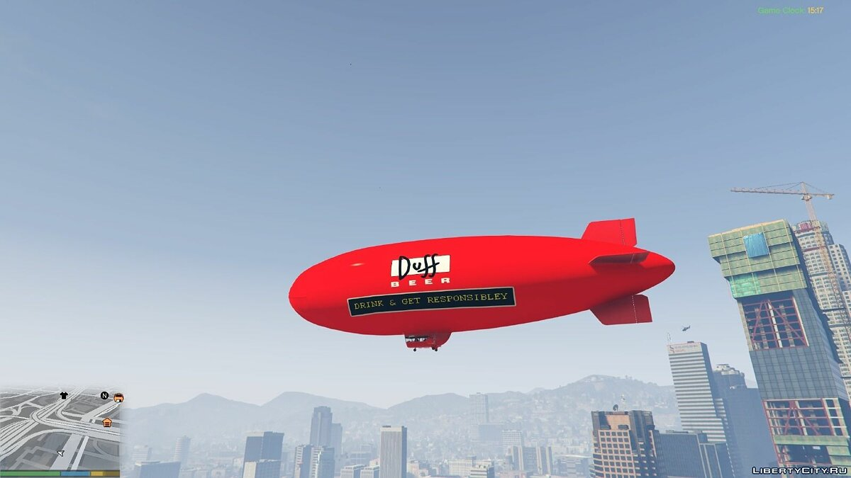Duff Beer - Blimp для GTA 5 - Картинка #1