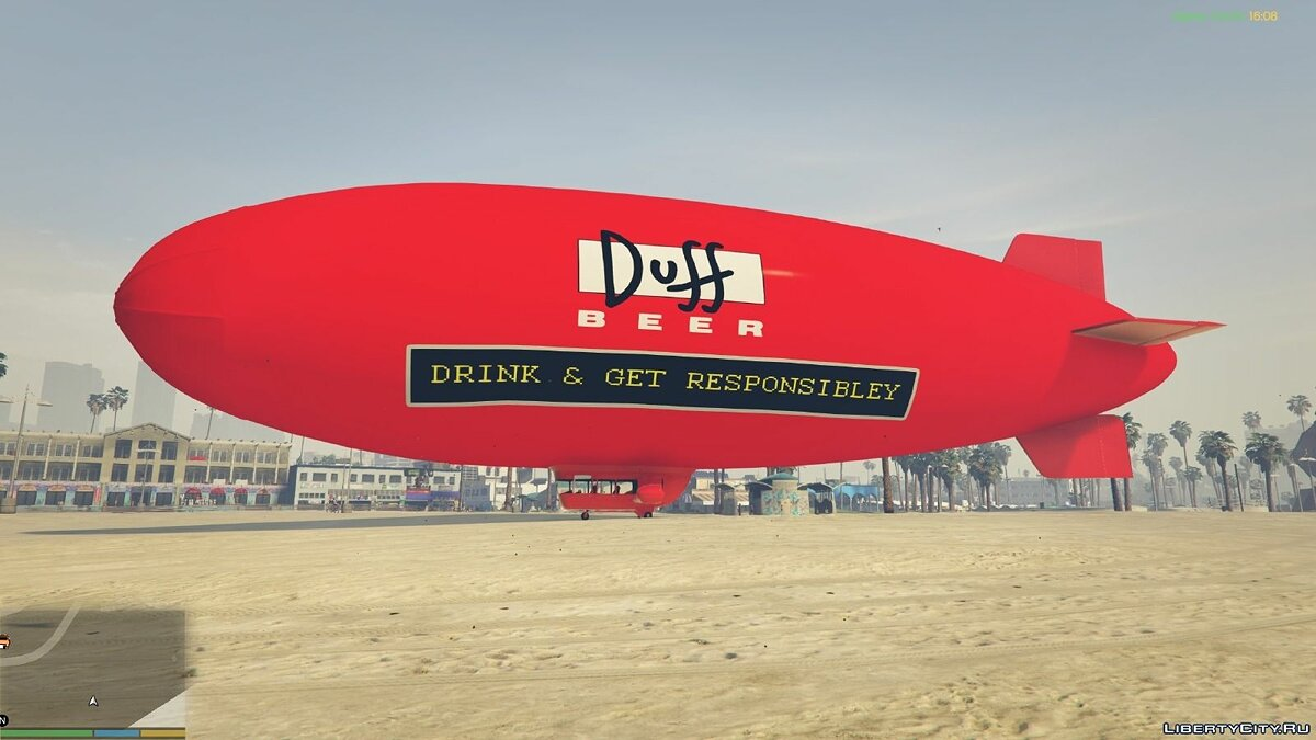 Duff Beer - Blimp для GTA 5 - Картинка #3