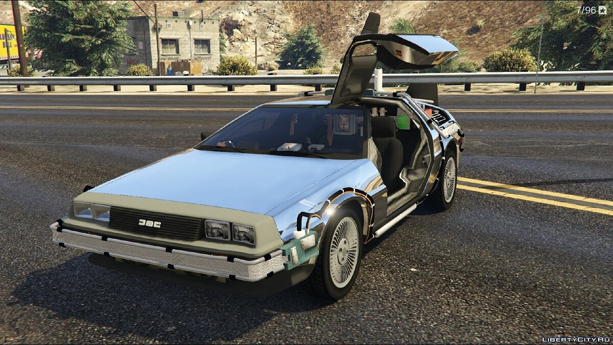 Машина Delorean Back To The Future - Delorean для GTA 5