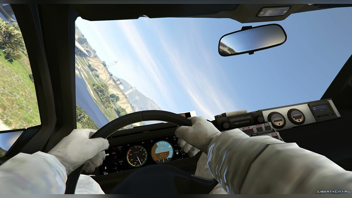 Машина Delorean Delorean DMC12 / BTTF2 / Flying [Add-On] 1.01 для GTA 5