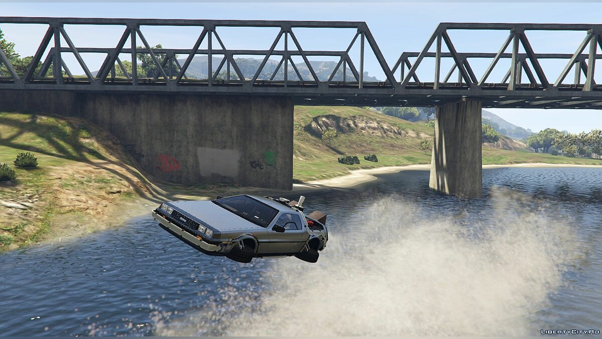 Машина Delorean Delorean DMC12 / BTTF2 / Flying (3in1) [Add-On] 1.6 для GTA 5