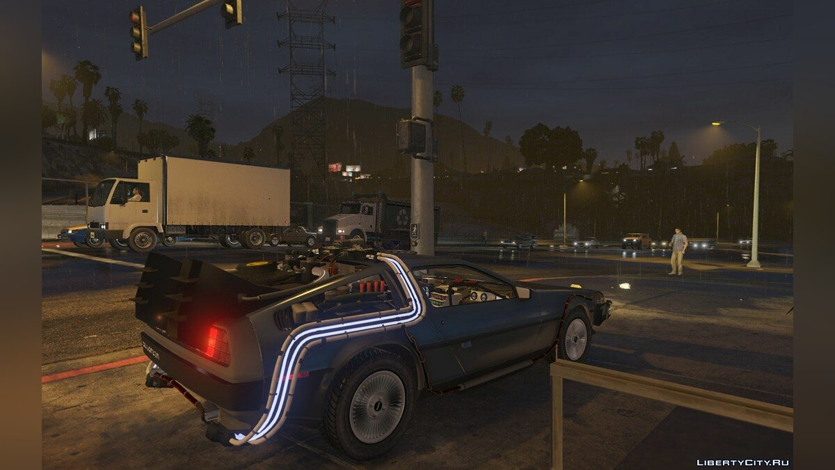Машина Delorean BTTF DeLorean для GTA 5