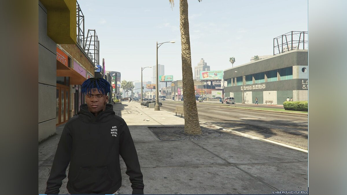 Футболка і кофта ASSC (Anti Social Social Club) Black Hoodie 1.0 для GTA 5