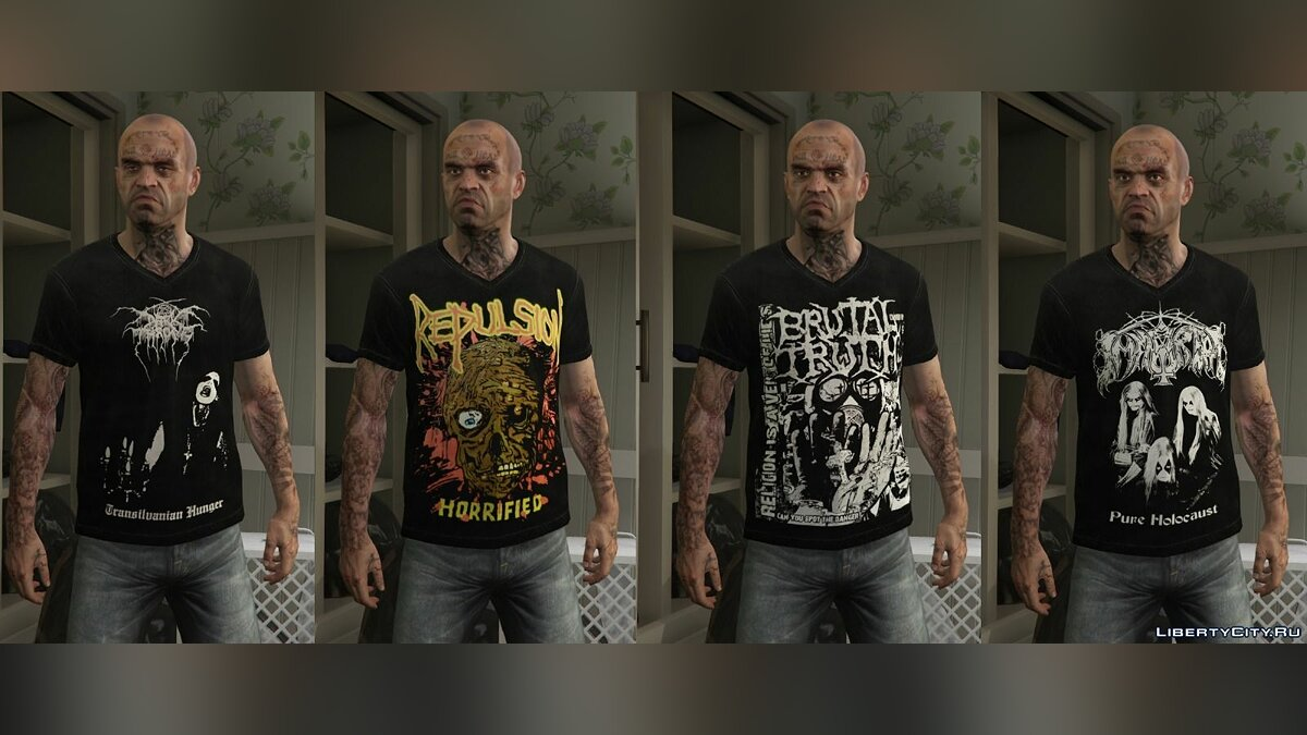 Trevor - Mega Music T-shirt Pack для GTA 5 - Картинка #5