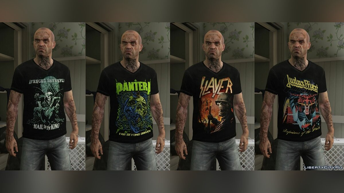Trevor - Mega Music T-shirt Pack для GTA 5 - Картинка #9