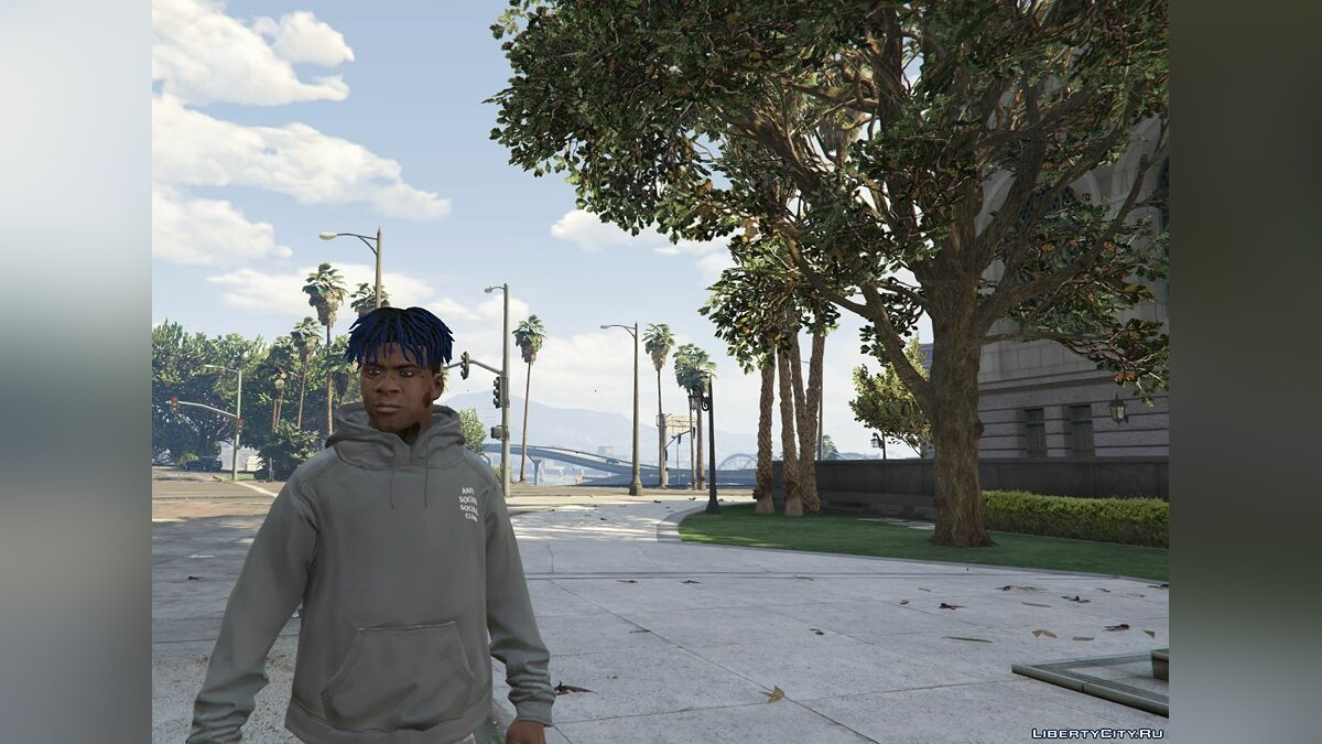 Футболка і кофта ASSC (Anti Social Social Club) Grey Hoodie White Title 1.0 для GTA 5