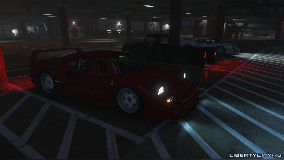 Машина Ferrari 1987 Ferrari F40 [Add-On | Replace] 2.0 для GTA 5