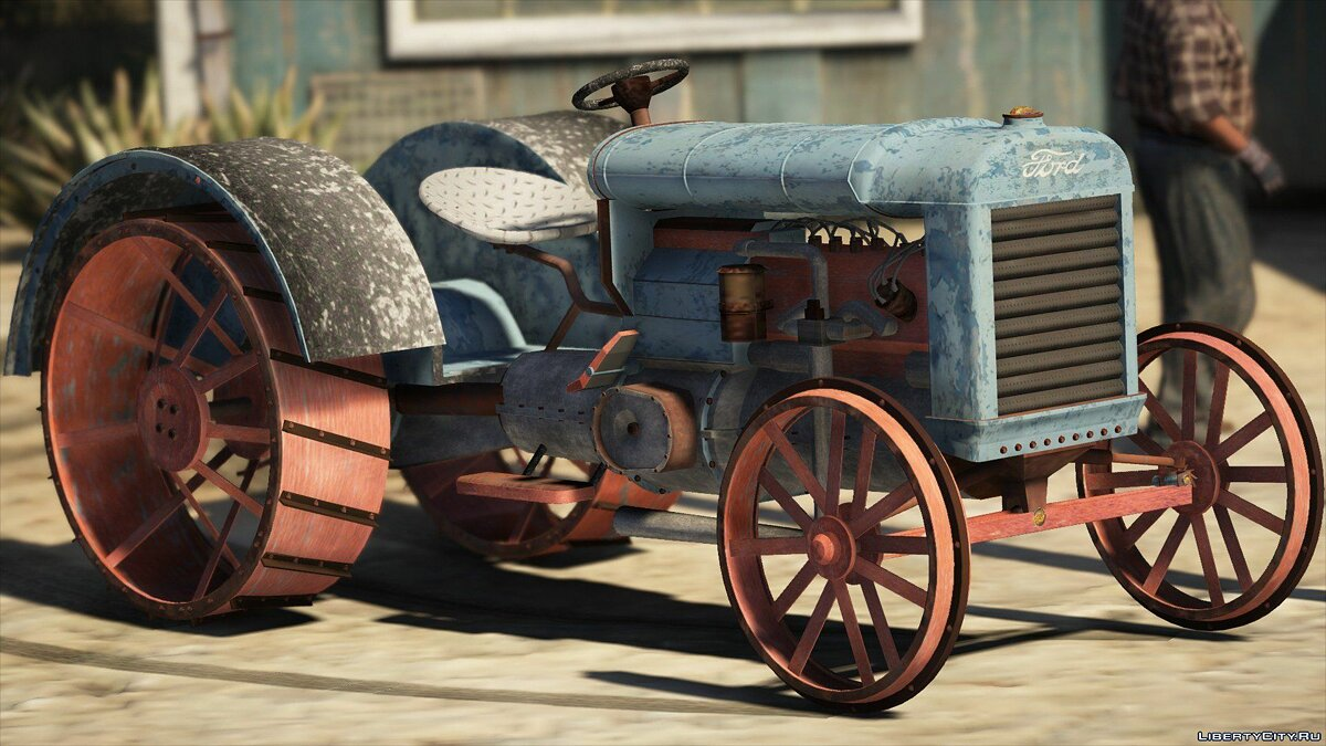 Old tractor retextured Ford 1.0 для GTA 5