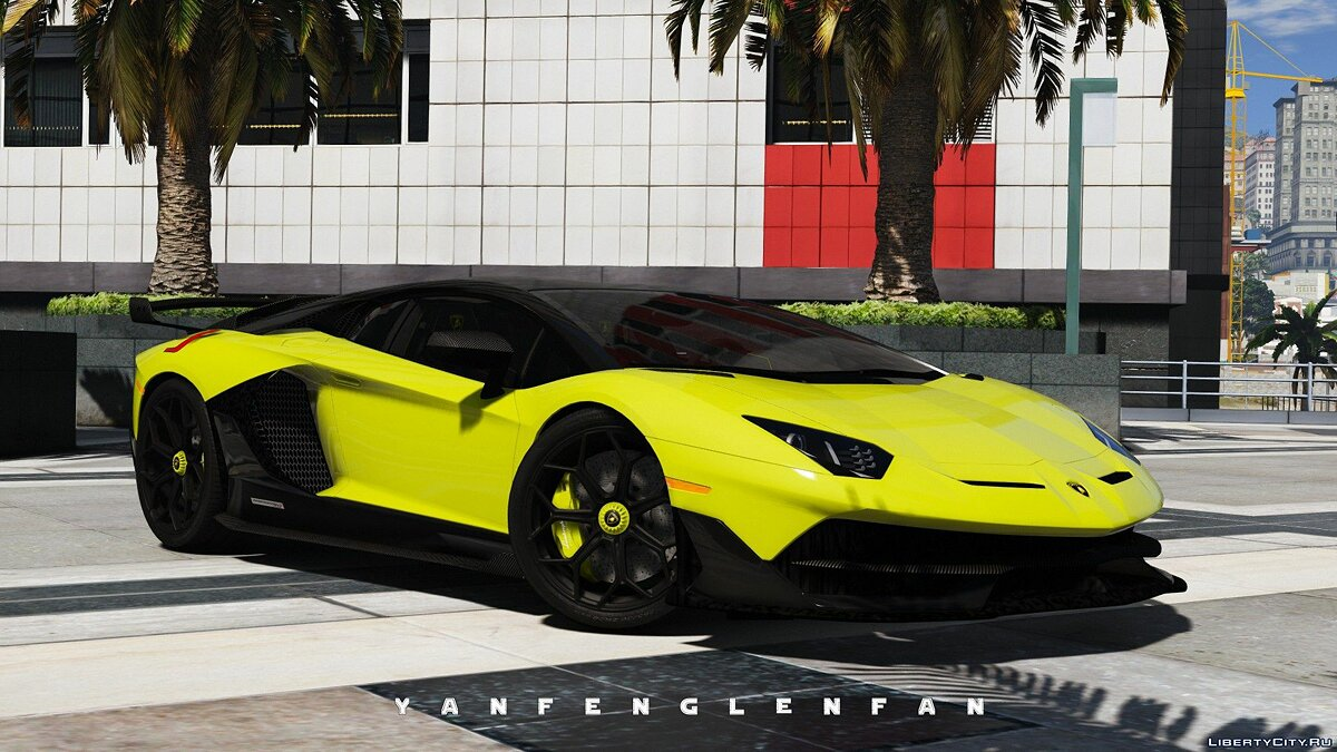 Машина Lamborghini 2019 Lamborghini Aventador SVJ [Add-On | Digital gear | HQ] для GTA 5