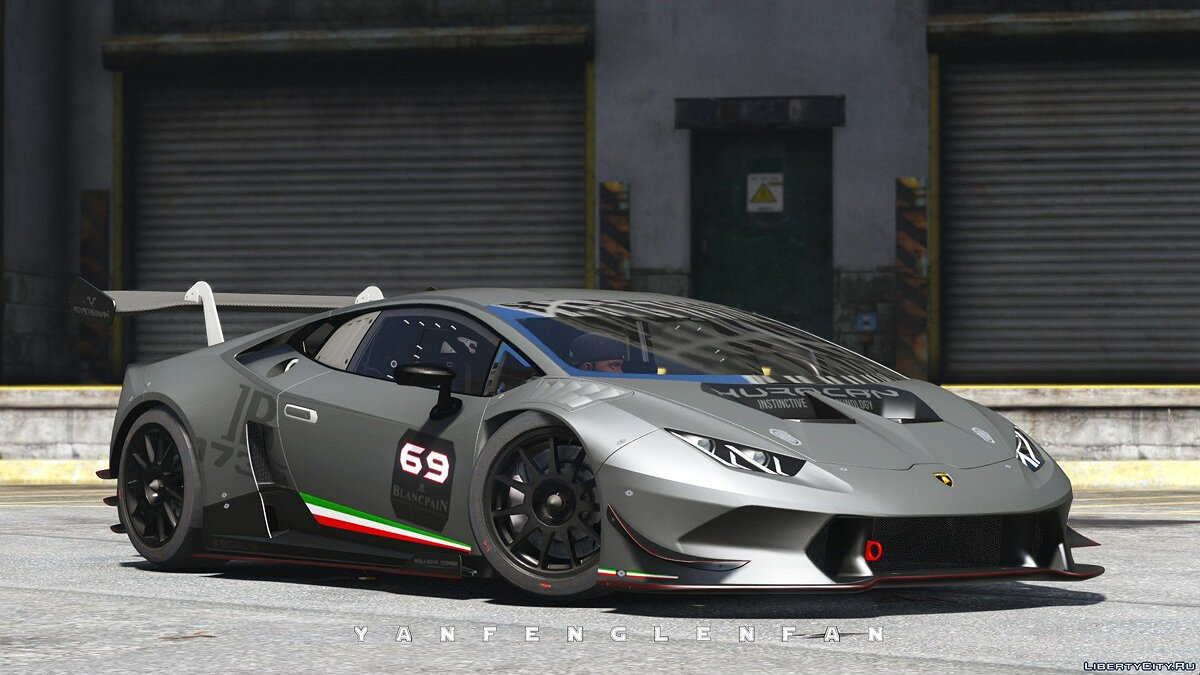Машина Lamborghini Lamborghini Huracan Super Trofeo [Add-On | Digital gear | HQ] 2.0 для GTA 5