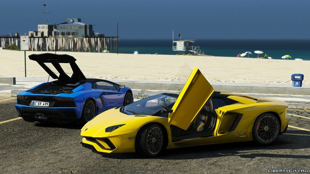 Машина Lamborghini 2018 Lamborghini Aventador S Roadster [Add-On | Wipers | AutoSpoiler | Template] 1.3 для GTA 5