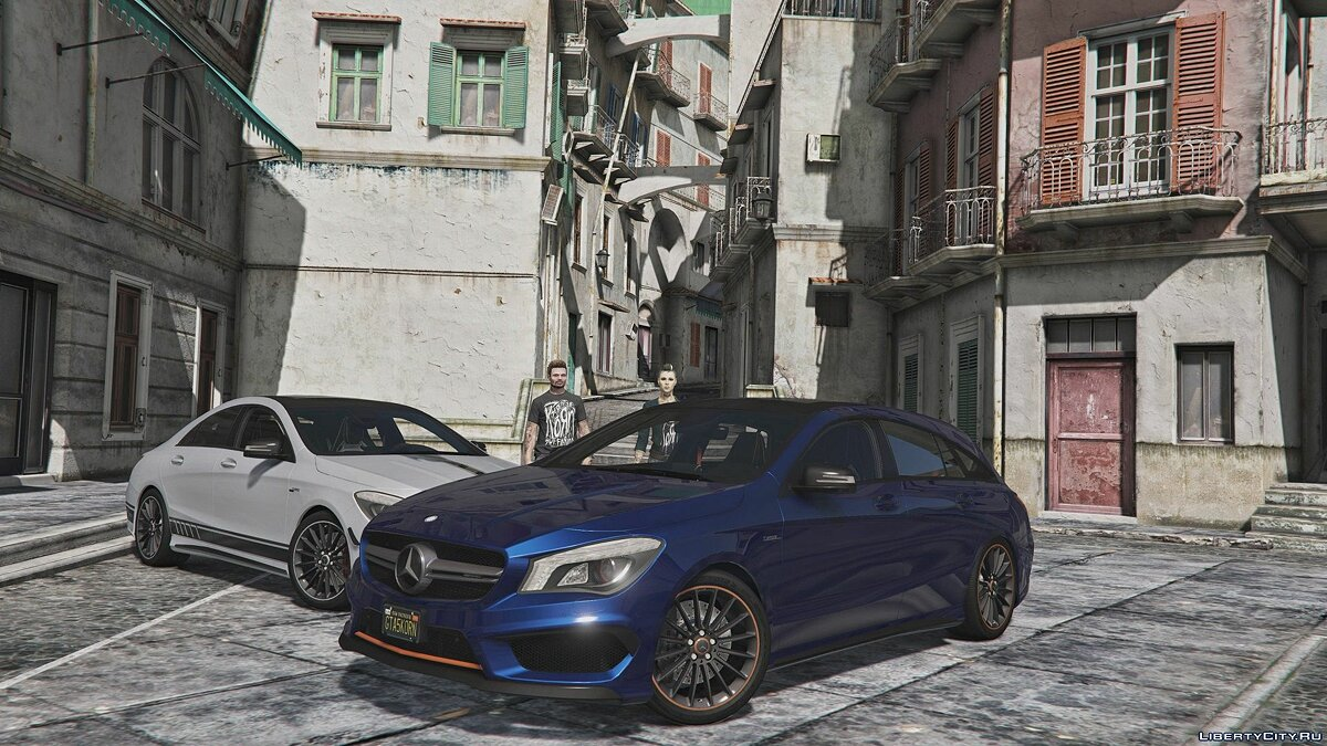 Машина Mercedes-Benz 2016 Mercedes-AMG CLA 45 Shooting Brake [Chromed- & Blacked out] v3 для GTA 5