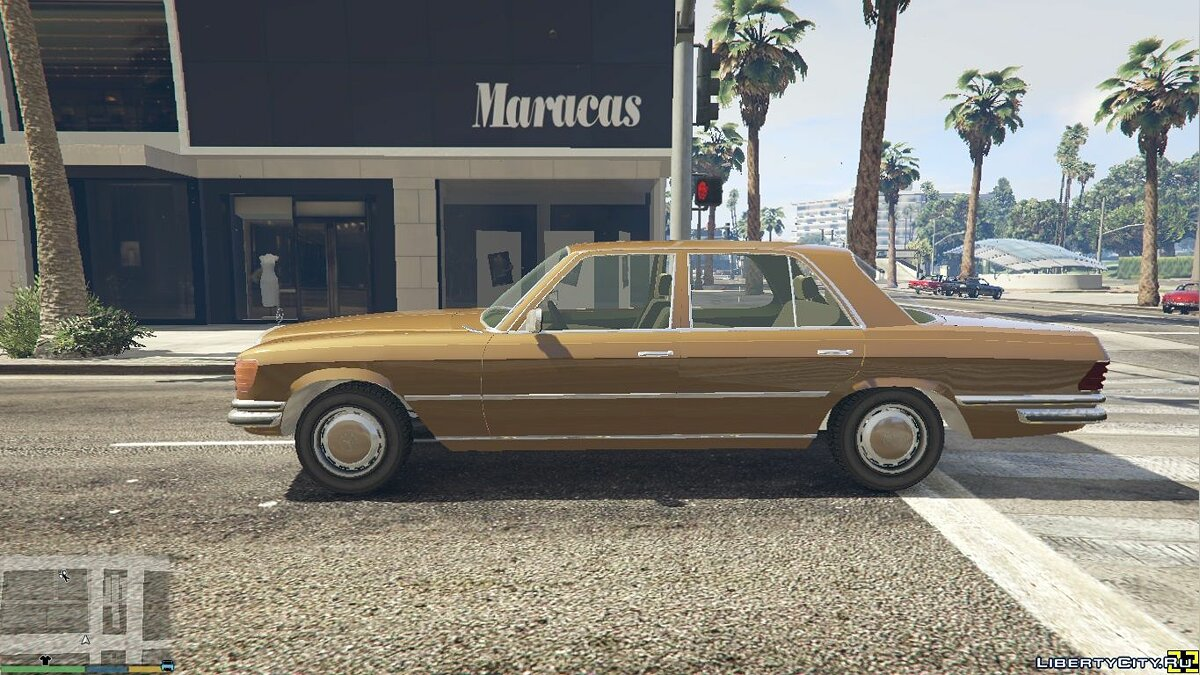 Машина Mercedes-Benz 1974 Mercedes-Benz 280SE W116 [Add-On / Replace] 4.0.0 для GTA 5