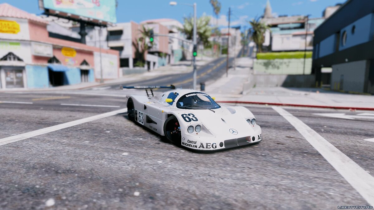 Машина Mercedes-Benz Mercedes-Benz Sauber C9 # 63 1989 [Add-On / Replace | OIV | Dirtmap | Wiper | HQ] 1.1 для GTA 5
