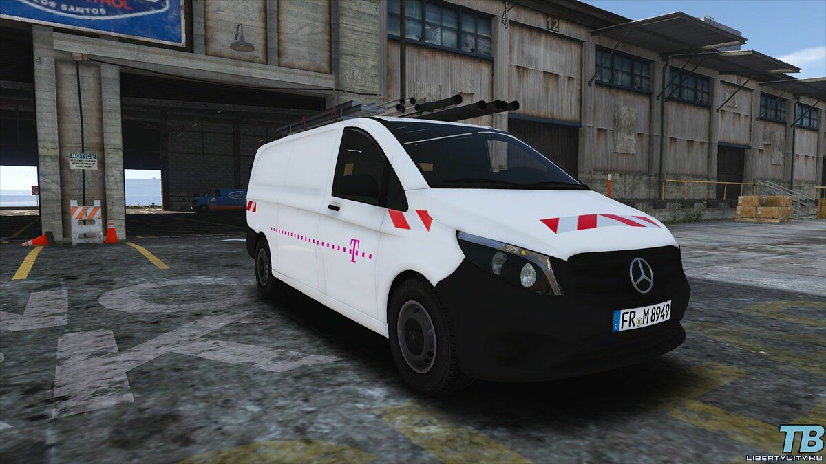 Машина Mercedes-Benz 2017 Stock Mercedes Vito - Logistic Paintjobs 1.0 для GTA 5