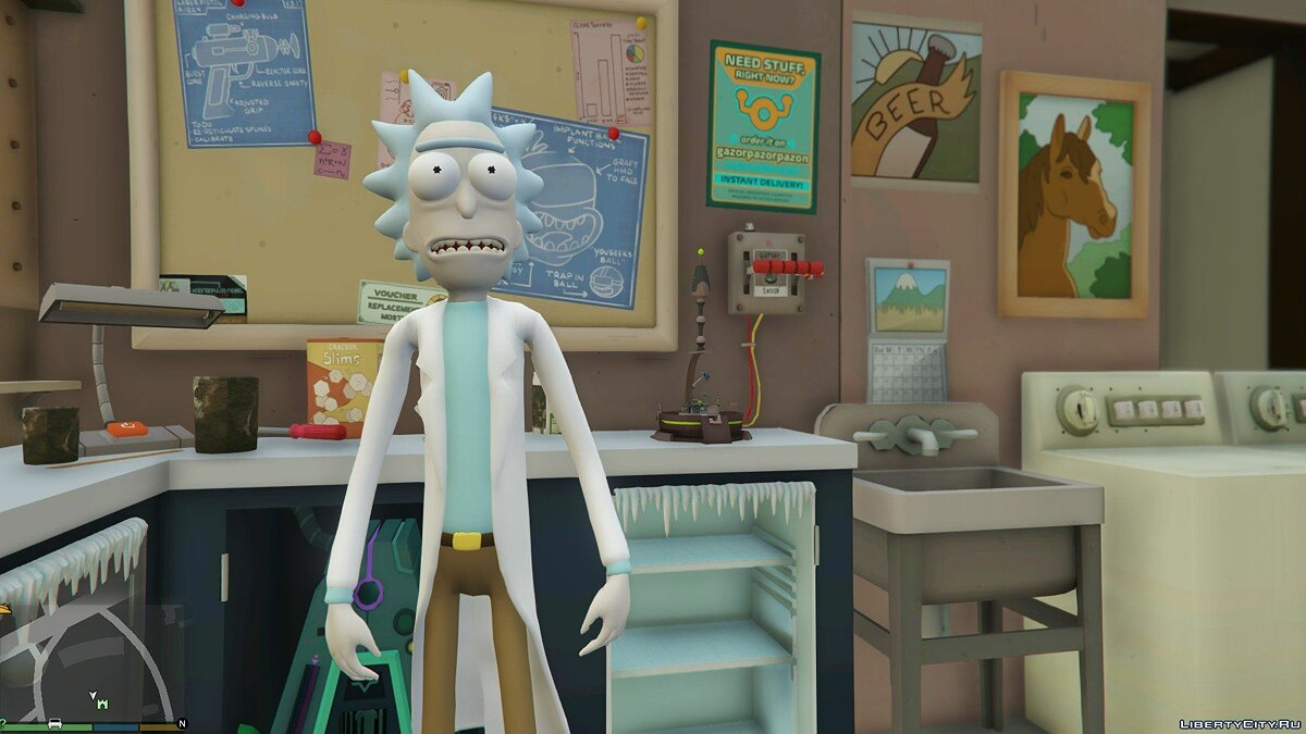 ��овий персонаж Rick Sanchez (Rick and Morty) [Add-On] 2.2 для GTA 5