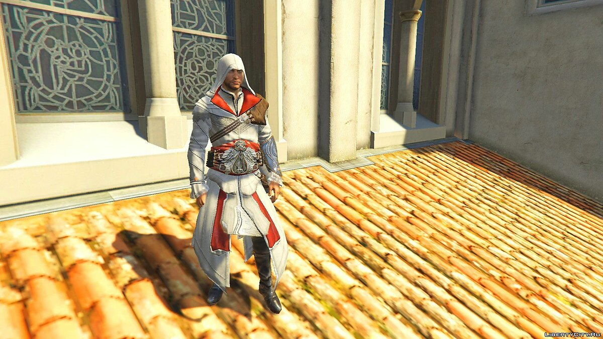 ��овий персонаж ACU Ezio Outfit [Add-On Ped] 1.0 для GTA 5