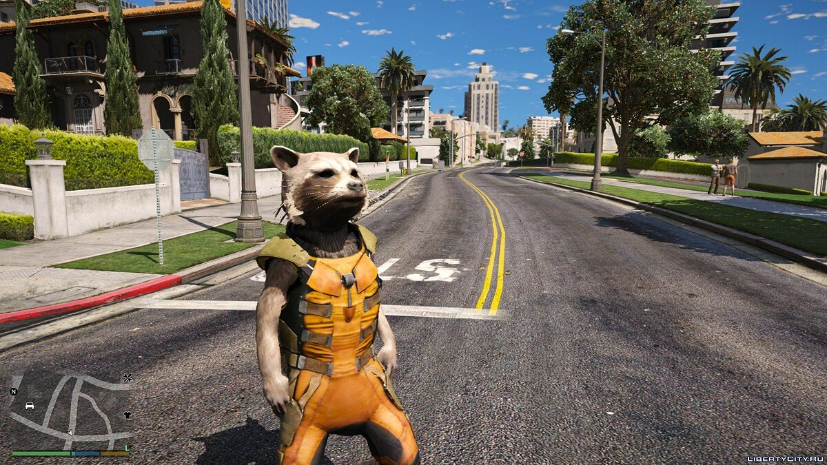 Новий персонаж Rocket Raccoon from Guardians of the Galaxy - Big & smalls version [Add-On / Replace PED] 1.0 для GTA 5