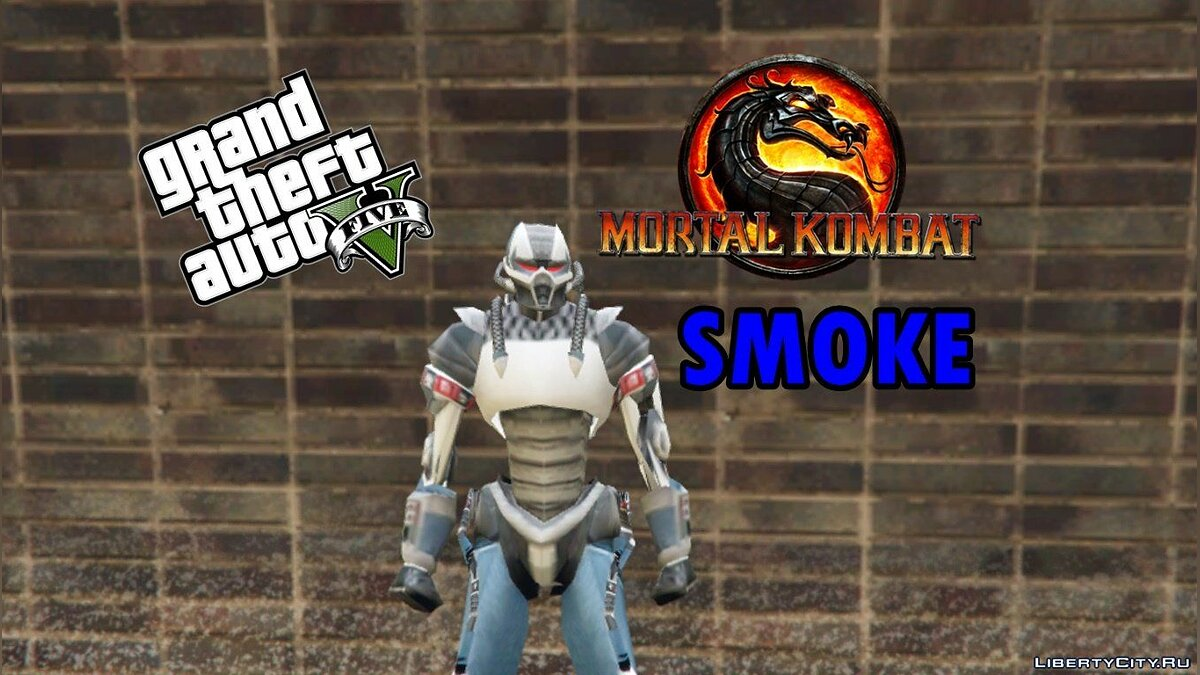��овий персонаж Mortal Kombat-Smoke [Add-On] 1.0 для GTA 5