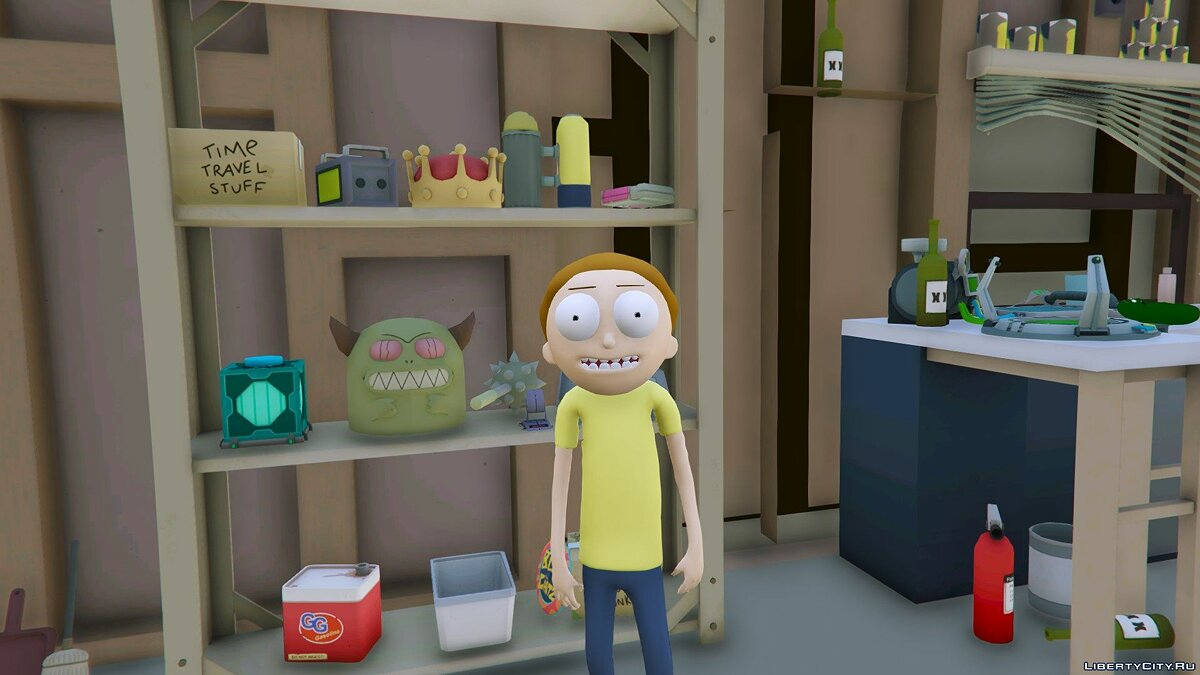 ��овий персонаж Morty Smith (Rick and Morty) [Add-On] 1.1 для GTA 5