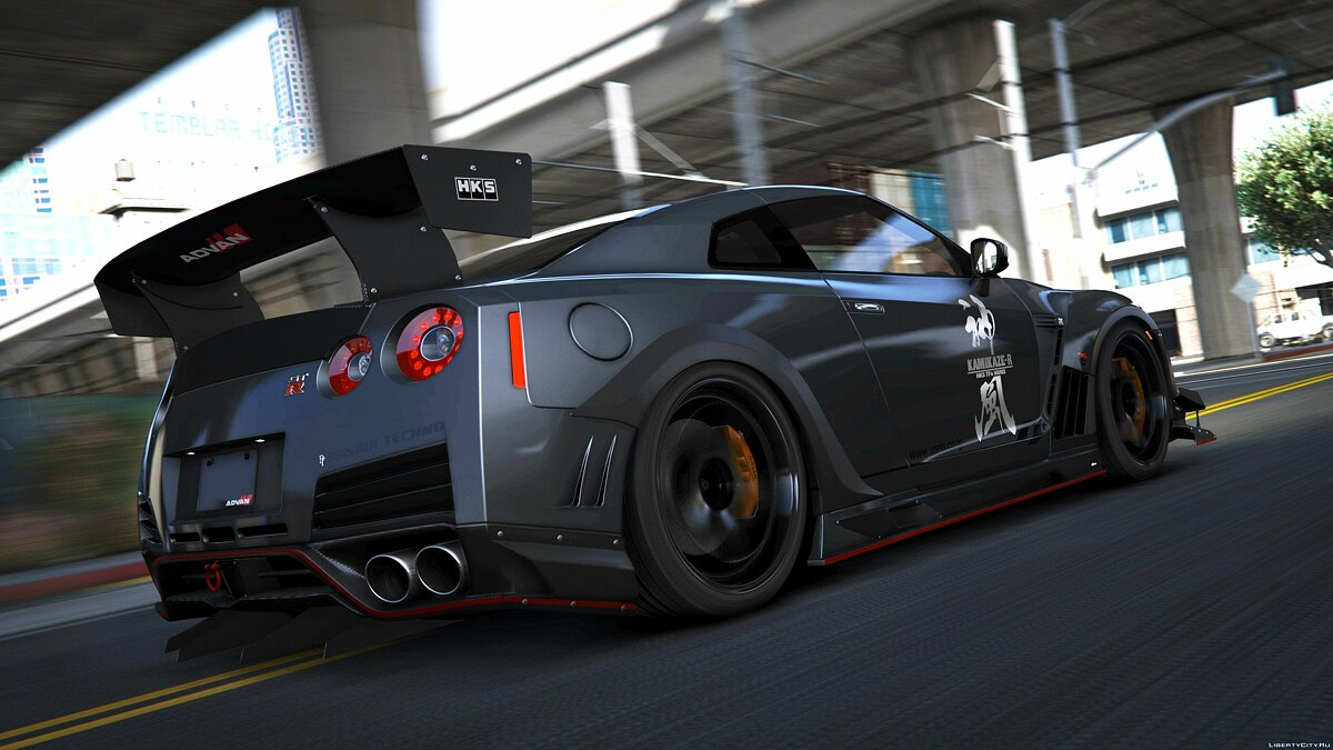 Машина Nissan Nissan GTR (R35) [Varis | Wald | C-West | TopSecret] [Add-on] для GTA 5