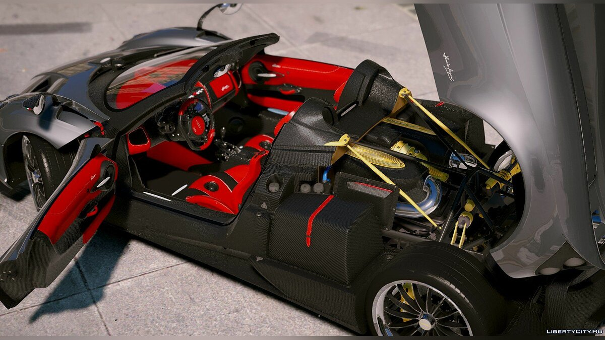 Машина Pagani 2018 Pagani Huayra Roadster [Aero Flaps] [Add-On] 1.0 для GTA 5