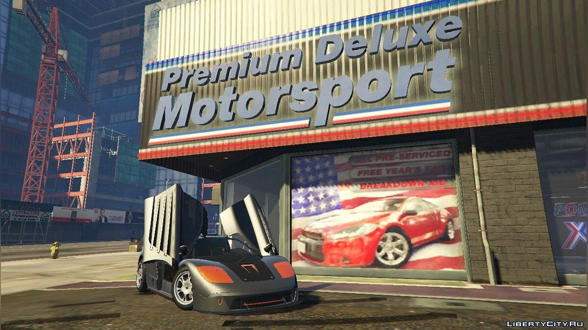 ��бройовий мод Premium Deluxe Motorsport Car Dealership 4.2.1 для GTA 5