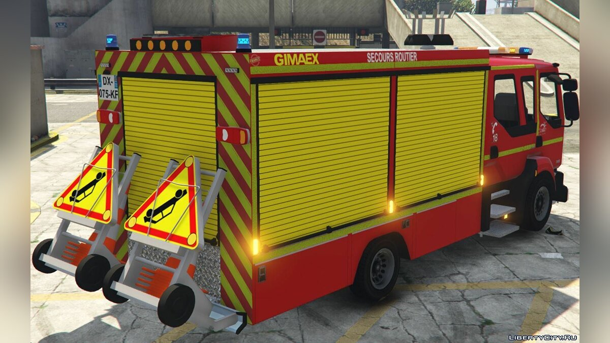 Машина Renault Midlum 300 - Fourgon de Secours Routiers [Add-On] [ELS] 1.0 для GTA 5