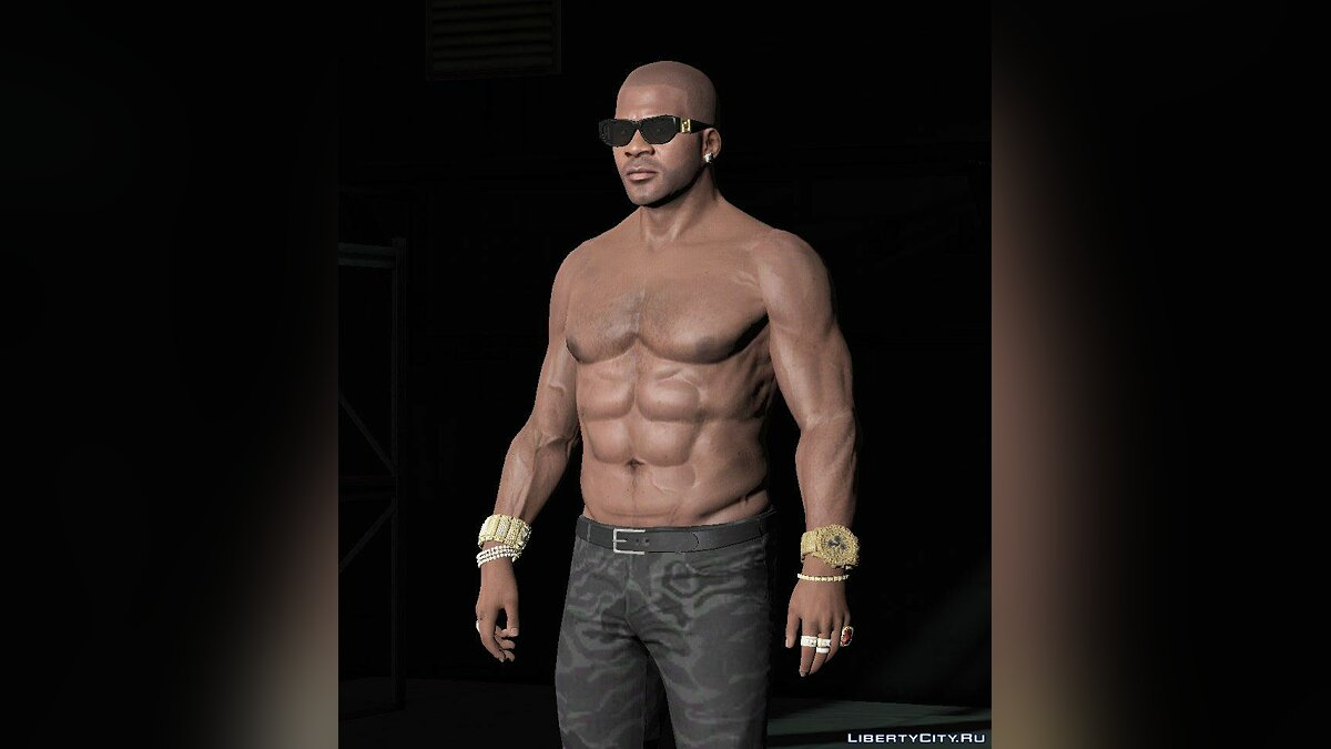 Татуювання Franklin body relief для GTA 5