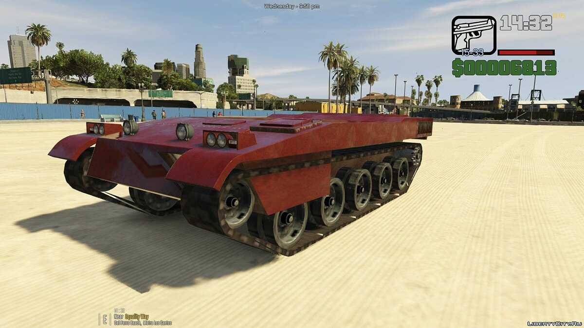 Civilian Rhino [Add-On] 1.0 для GTA 5