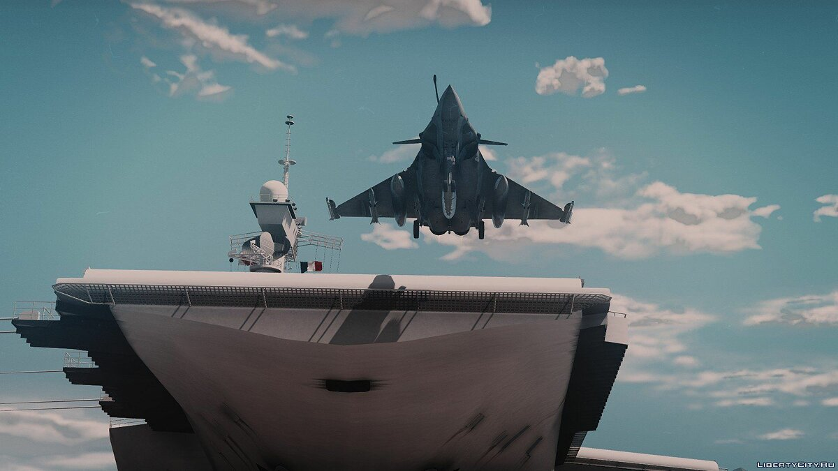 French aircraft carrier Charles de Gaulle [Add-on] V1 для GTA 5