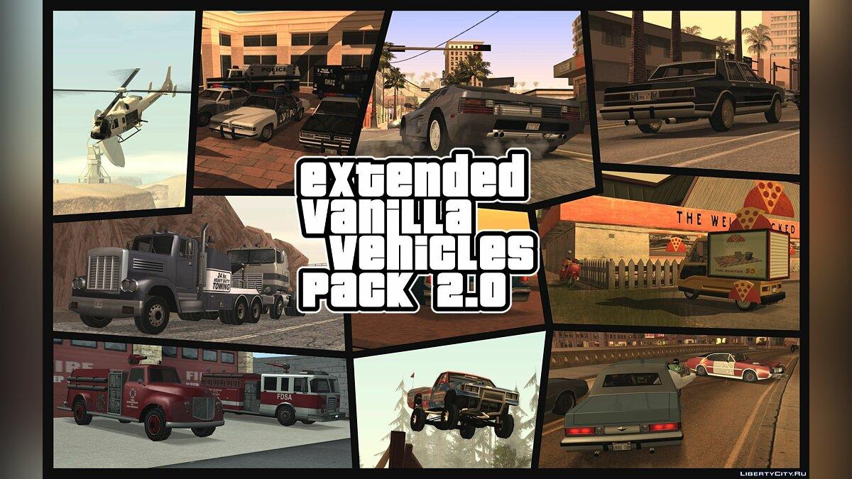 Extended Vanilla Vehicles Pack 1.0 для GTA San Andreas - Картинка #1