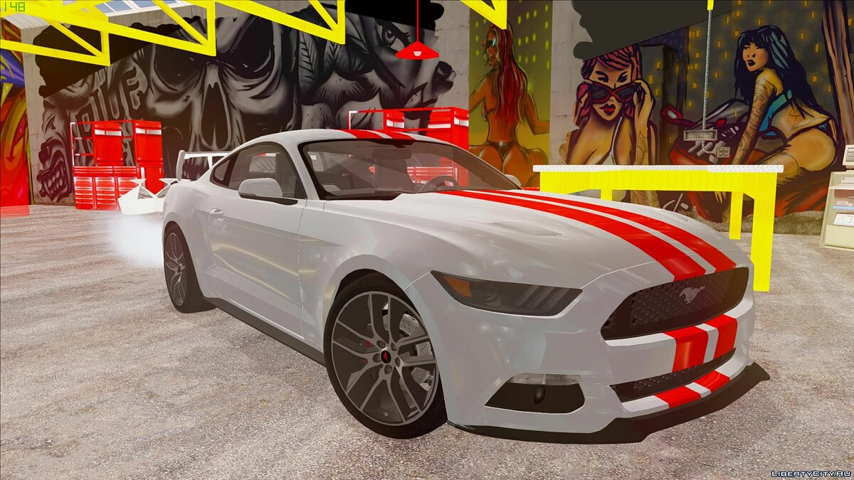 Машина Ford Ford Mustang GT by 3dCarbon 2014 для GTA San Andreas