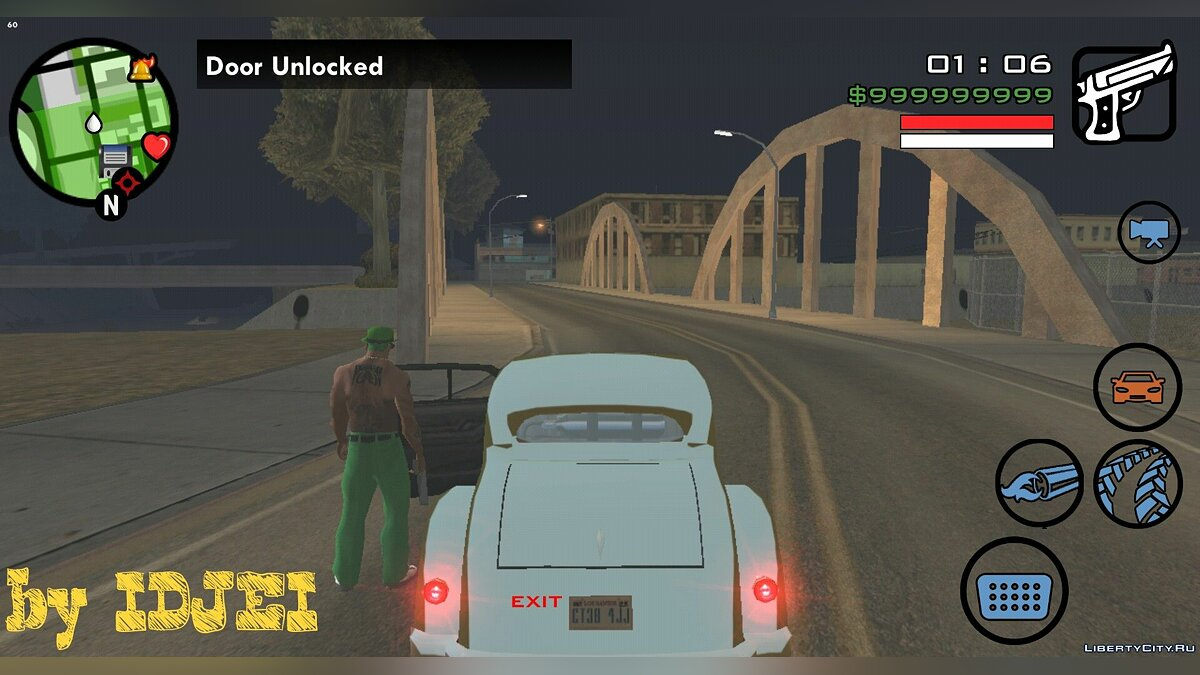 CLEO скрипт Shoot from the car для GTA San Andreas (iOS, Android)