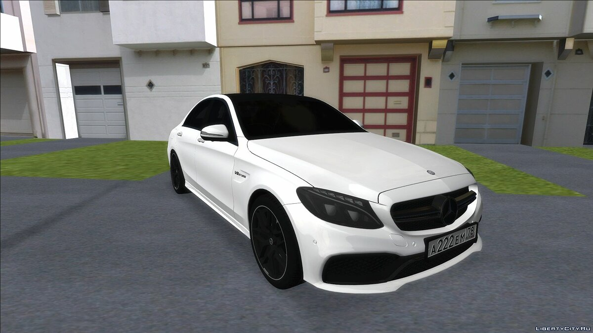 Mercedes-Benz C63S AMG Black для GTA San Andreas - Картинка #1