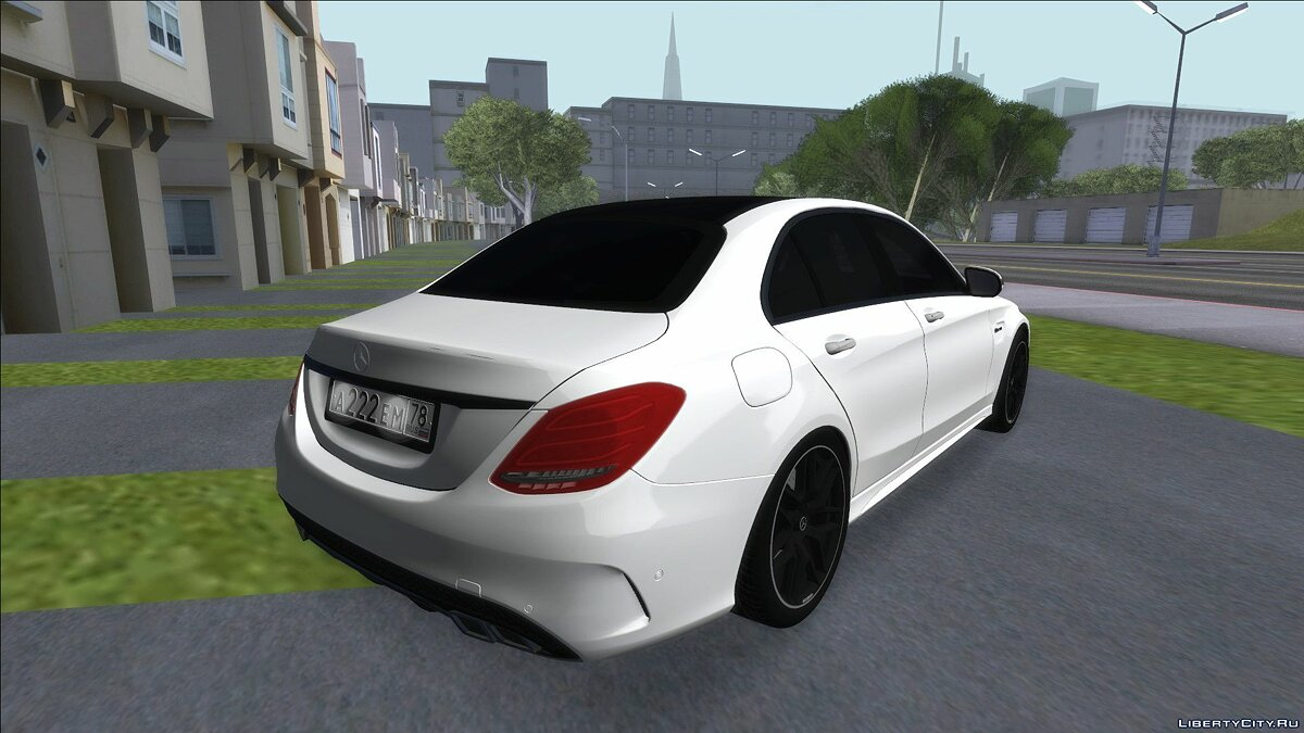 Mercedes-Benz C63S AMG Black для GTA San Andreas - Картинка #2
